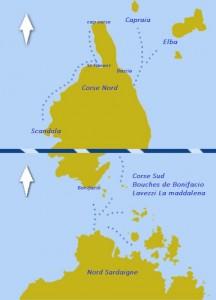 carte itineraire nord corse